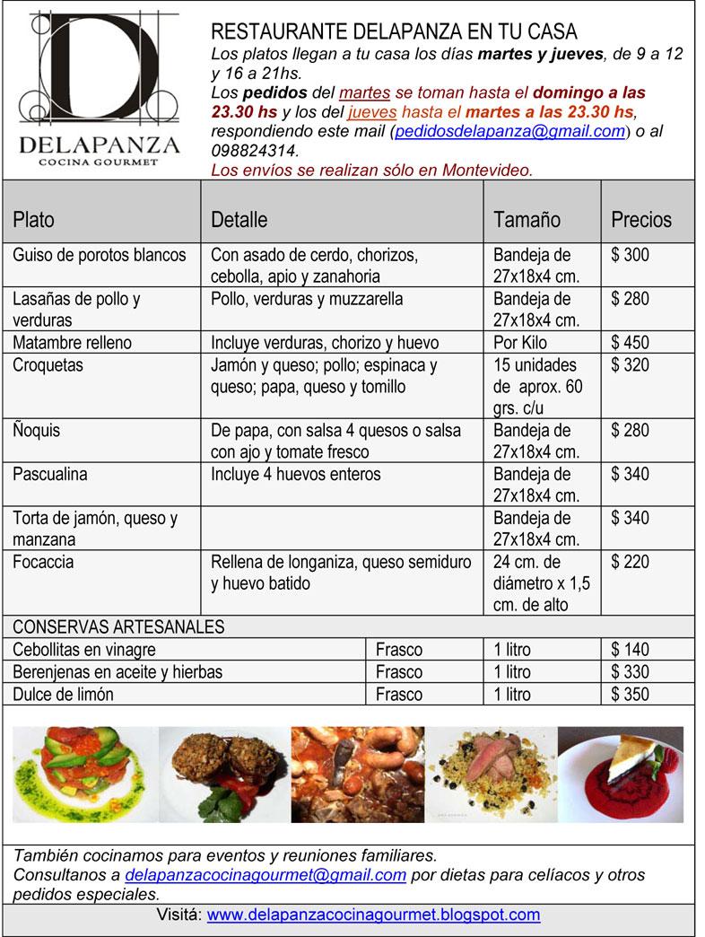 delapanza cocina gourmet en uruguay delapanza en tu casa
