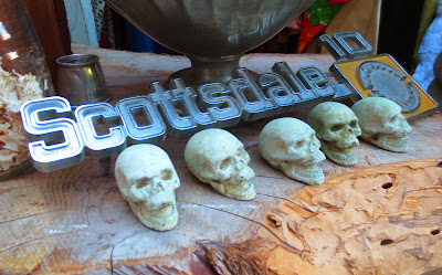 Scary sculls and car logo