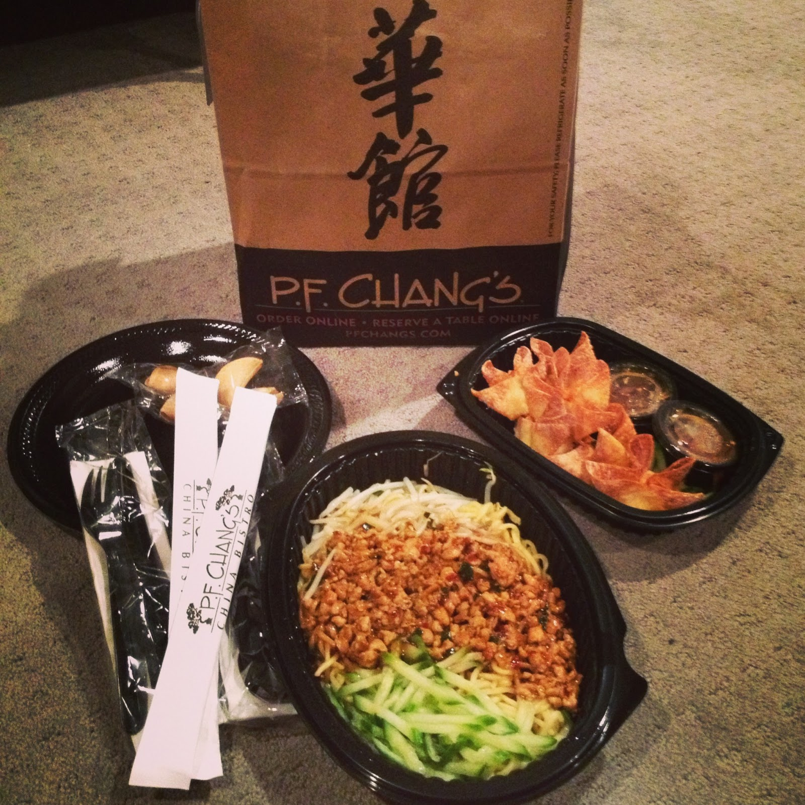 pf changs, pf changs take out, chop sticks, dan dan noodles, crab wontons, wontons, take out, Chinese food, food at home, utah, food chain, spicy plum sauce, sprouts, cucumber, crab, delicious food, eat me, good food chicken,