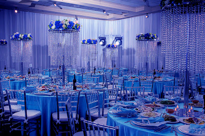 Luxurious Crystal Wedding Reception Decorations