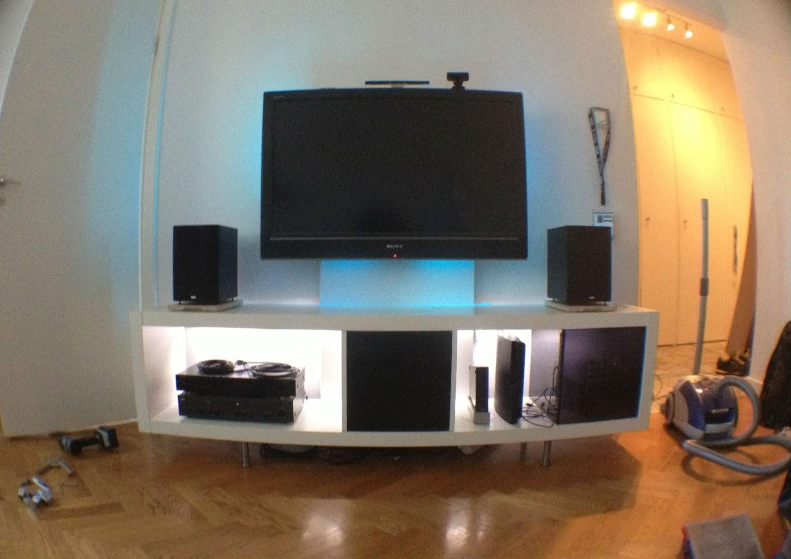 Expedit Media Center For Flat Tv Ikea Hackers Ikea Hackers