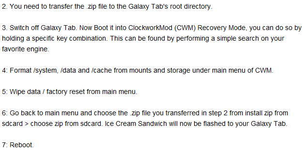 Install Or Port Android ICE Cream On Galaxy Tab