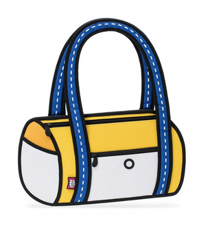 Yellow Cartoon Handbag JumpFromPaper 2D Fashion