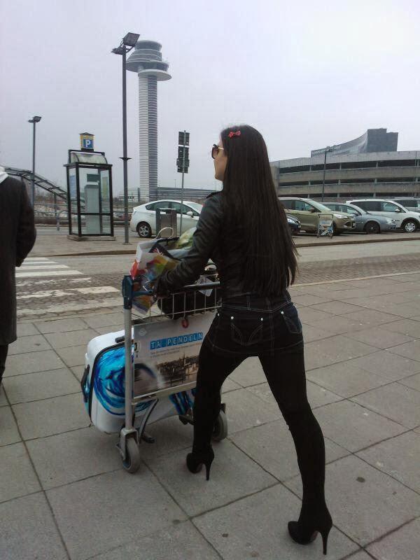 Elli Avram snapped at Stockholm / Arlanda airport