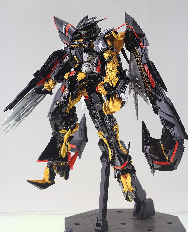 GUNDAM GUY: MG 1/100 Gundam Astray Gold Frame Amatsu Mina - Painted ...
