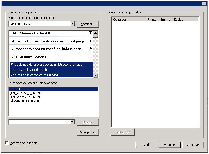 IIS, ASP.NET : Cómo monitorizar aspectos del rendimiento de las aplicaciones en producción