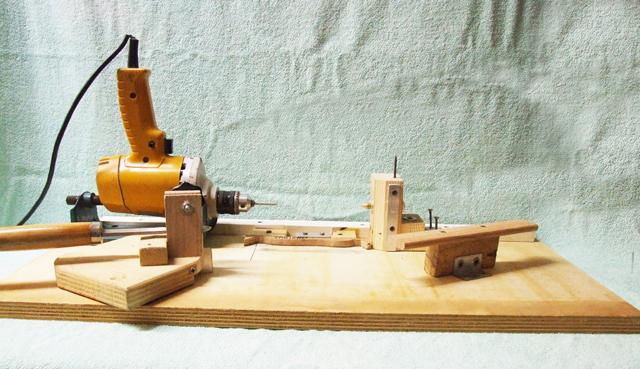 Labrolures tornio casalingo con copiatore - Tornio per legno fatto in casa ...