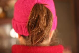 knitting ponytail hats