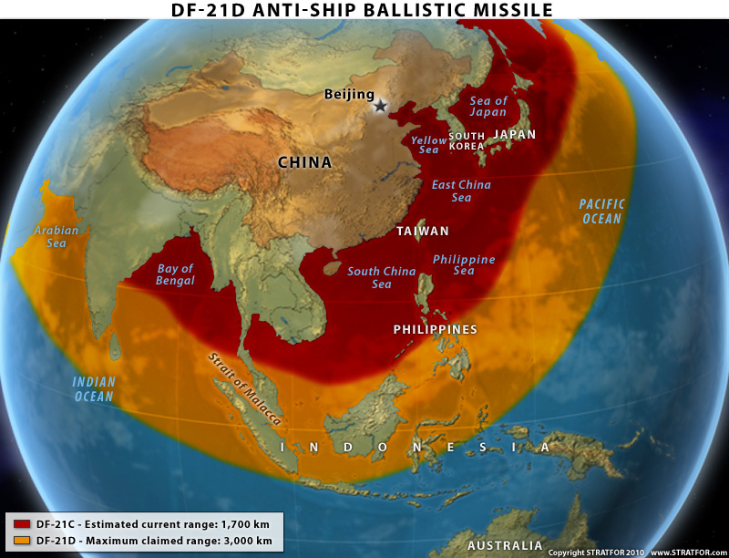 Naval Requirements May Notes Using Ballistic Missiles To - Us navy ships aircraft carriers movement stratfor maps