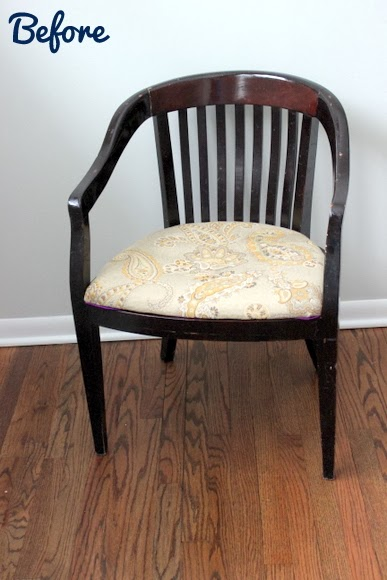Before: Reupholstered Chair DIY using Milk Paint | DIY Playbook