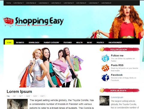 Shopping Easy Blogger Theme