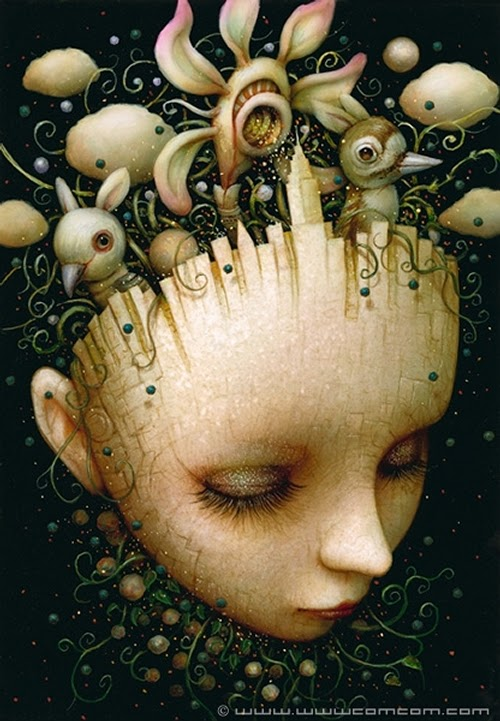 21-Rem-Sleep-Naoto-Hattori-Dream-or-Nightmare-Surreal-Paintings-www-designstack-co