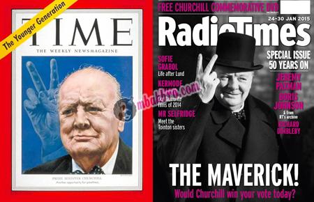 Winston Churchill dalam cover majalah