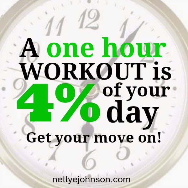 one hour workout 4% of day NJFFS