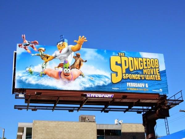 SpongeBob Movie out of water billboard