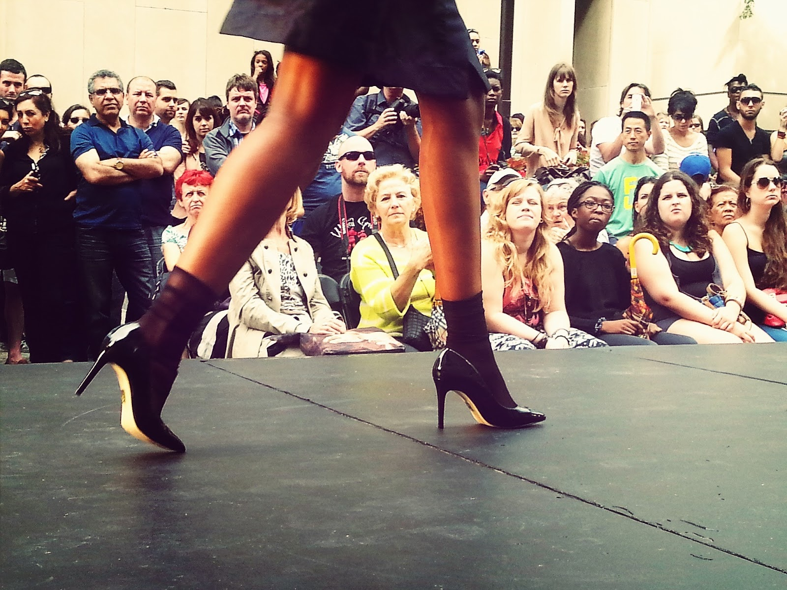 UNTTLD black heels socks skirt fashion show festival mode design