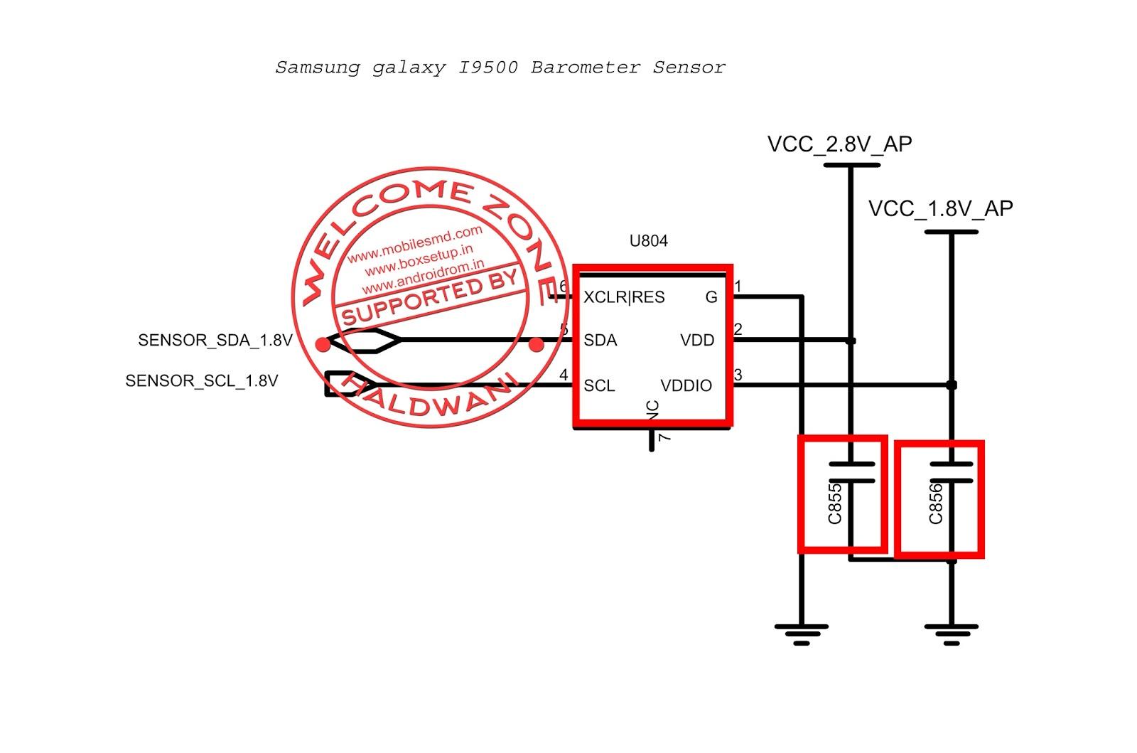 Samsung Galaxy S4 I9500 Barometer Sensor Part Not Working