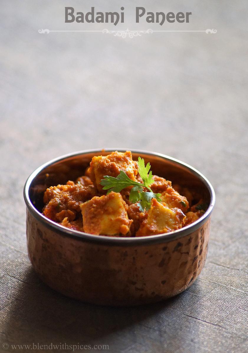 how to make badami paneer recipes, paneer curry, paneer badami