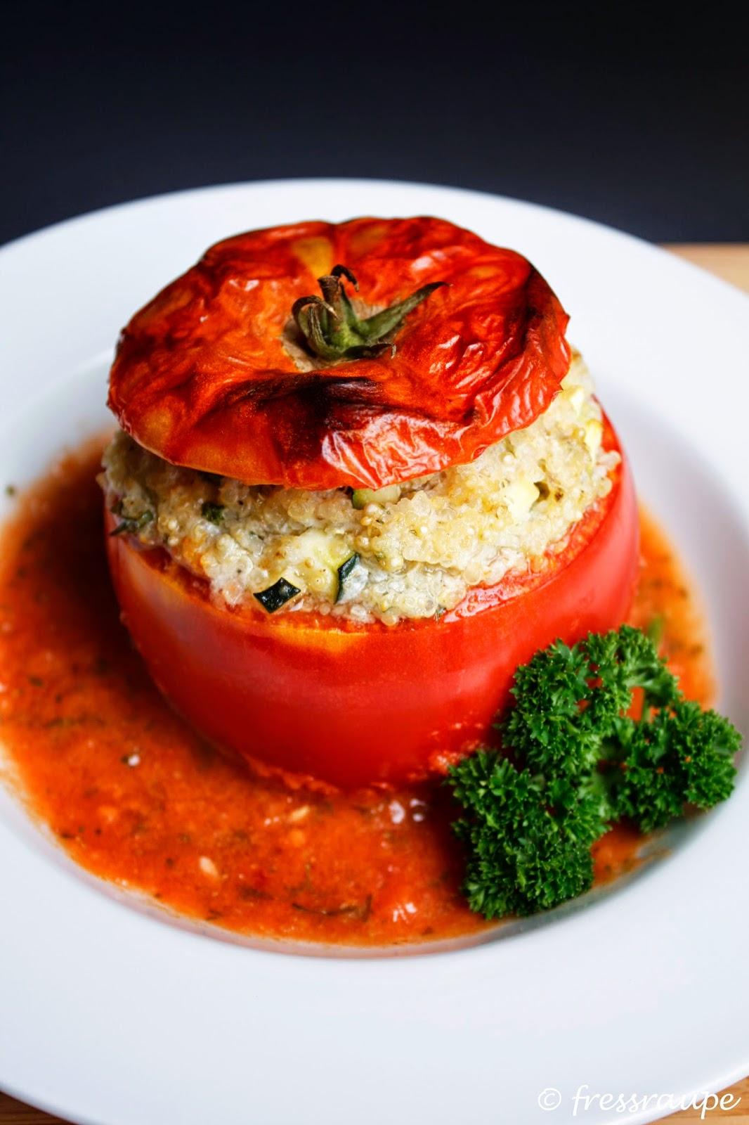 fressraupe das korn der inkas mit quinoa gef llte tomaten. Black Bedroom Furniture Sets. Home Design Ideas