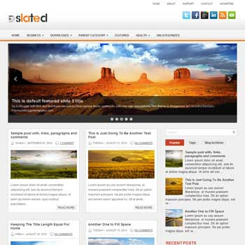 Slated blog template. patter background blogger template. magazine style template blogspot. free blogspot template