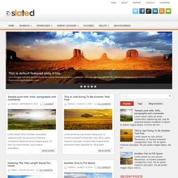 Slated blog template. patter background blogger template. magazine style template blogspot. free blogspot template