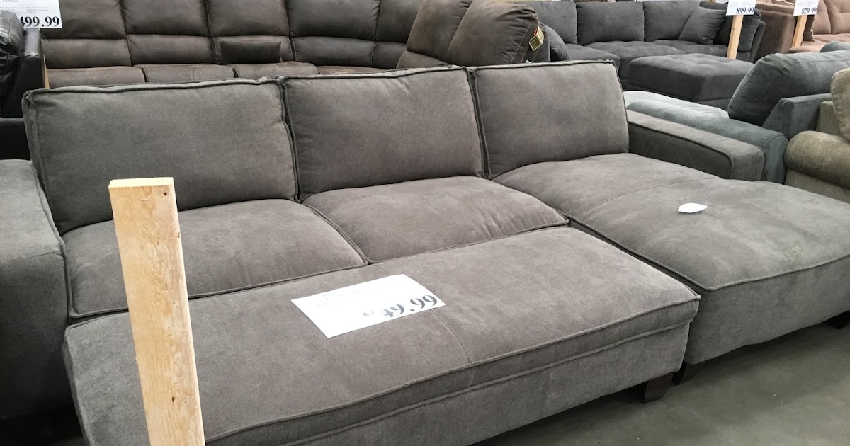 Chaise sectional sofa with storage ottoman costco weekender for Chaise and ottoman
