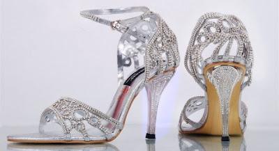 Metro Shoes Bridal Silver High-heel Sandal 2013-14