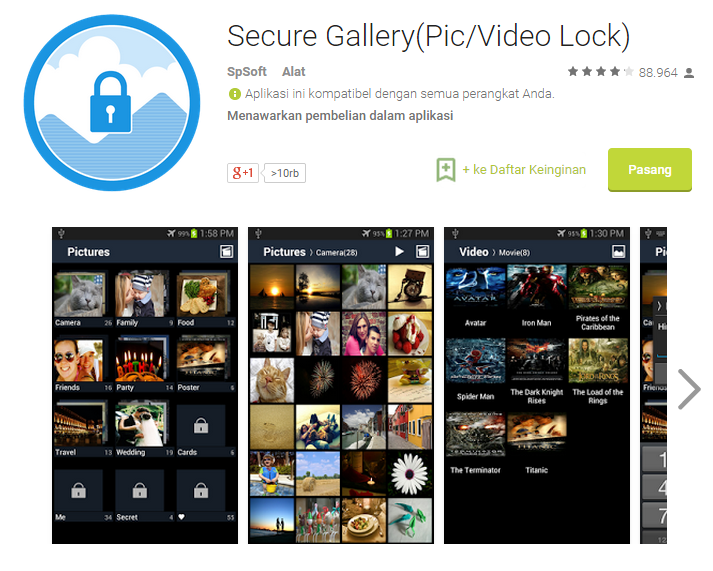 Cara Memberi Password Galeri Foto dan Video di Android