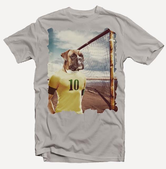soccer dog tshirt design