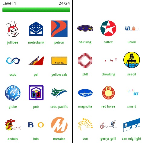 Logo Quiz Philippines Level 1