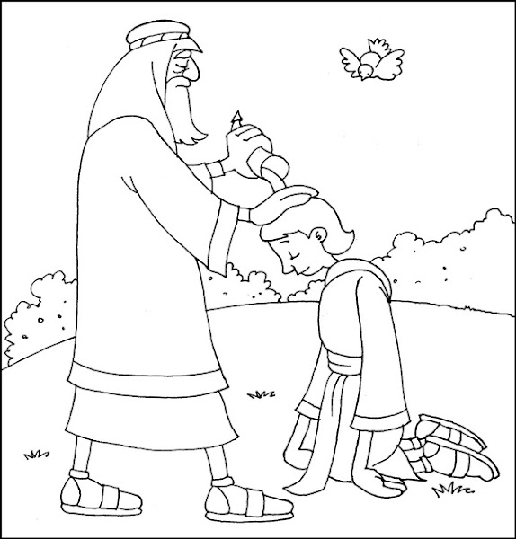 Samuel Anointed David King Coloring Page