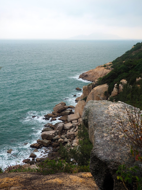 Coastal rock formation on south side of Cheung Chau Island, Hong Kong