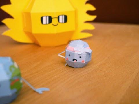 Super Punch Cute Solar System Papercraft Set