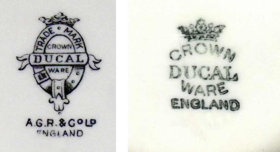 Crown Ducal Charlotte Rhead Pottery Crown Ducal Backstamps Part