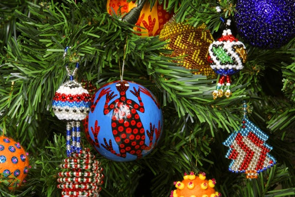 Travel through africa for African christmas decoration