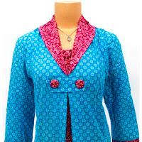 Model Baju Blouse Batik Modern Terbaru 2013