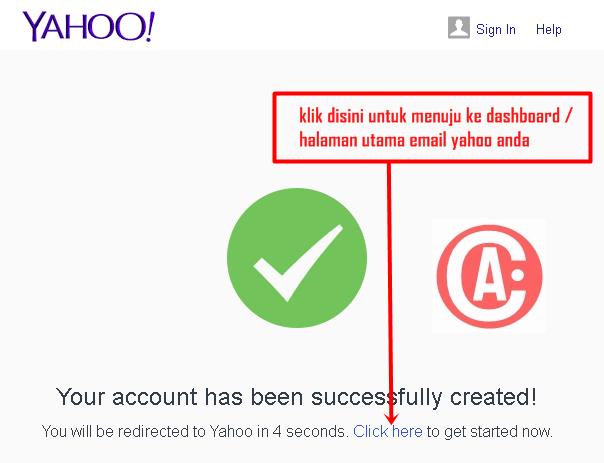 cara membuat / mendaftar email baru di yahoo - berhasil membuat