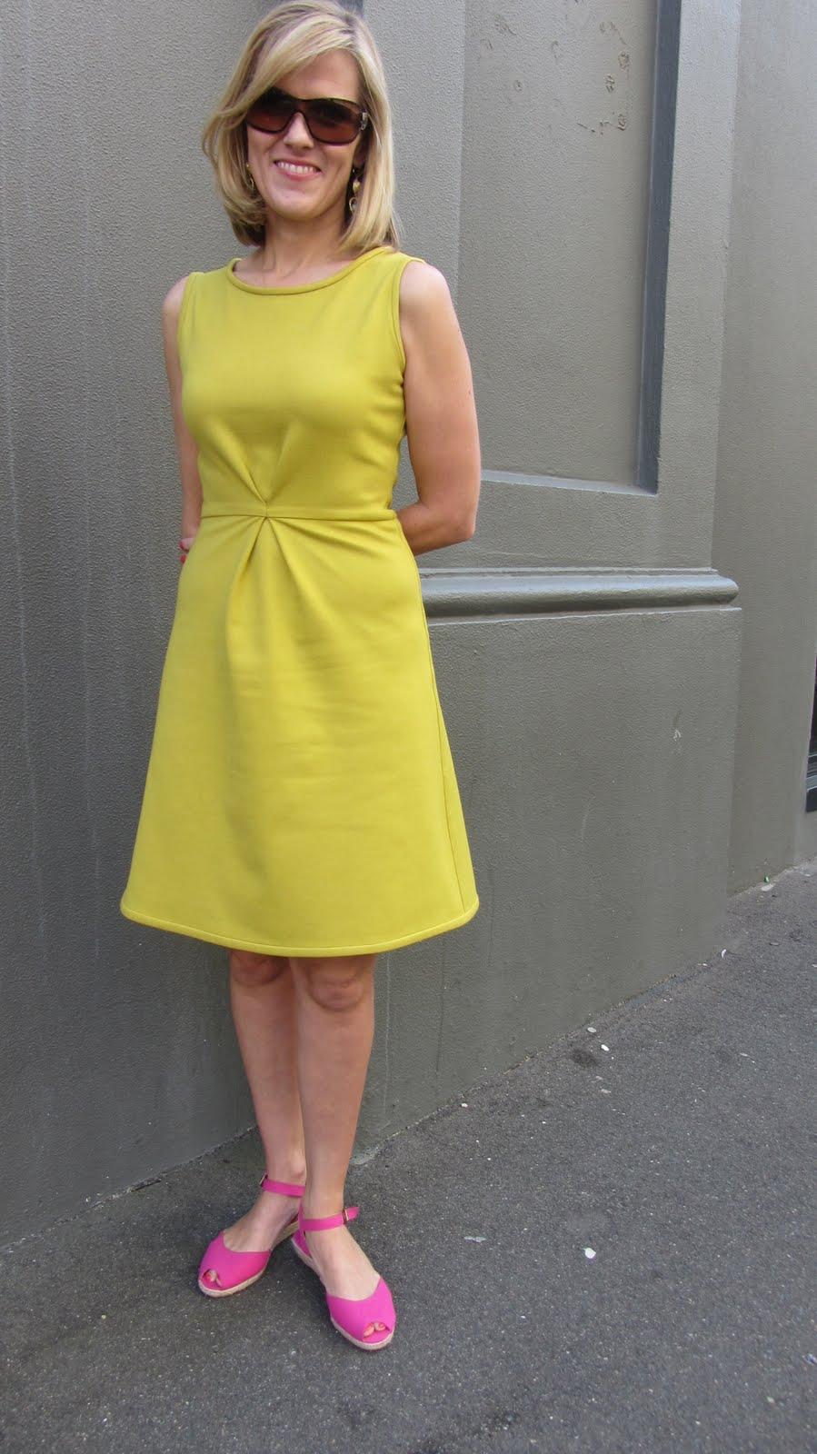 Simple Knit Fabric Dress Pattern: Girls a line pullover dress free ...