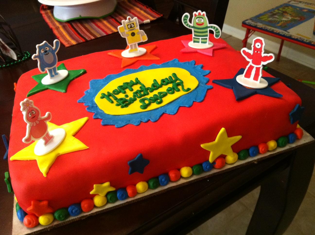 Little sweet shop yo gabba gabba cake yo gabba gabba cake thecheapjerseys Gallery