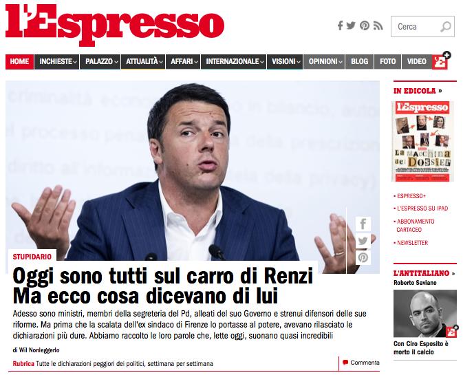 http://espresso.repubblica.it/palazzo/2014/07/08/news/sul-carro-di-matteo-renzi-c-e-posto-per-tutti-ma-ecco-cosa-dicevano-di-lui-i-nuovi-renziani-1.172572