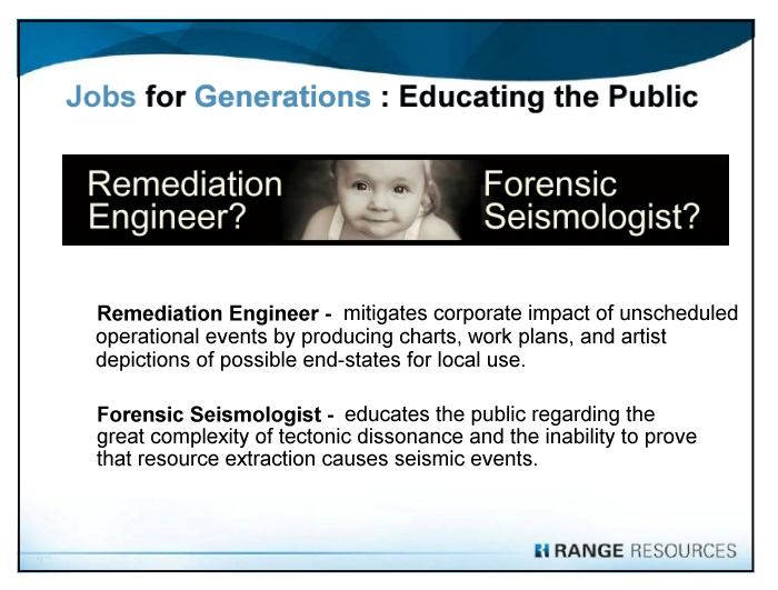 Range Resources Power Point: Jobs for Generations