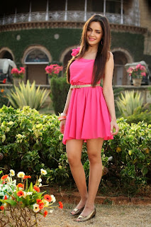 Actress Shazahn Padamsee Latest Pictures in Pink Short Dress 13