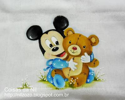 mickey baby com ursinho