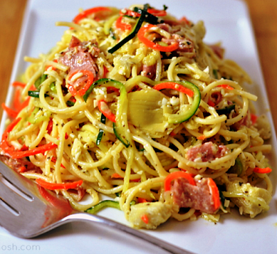 Spiralized Italian Pasta Salad