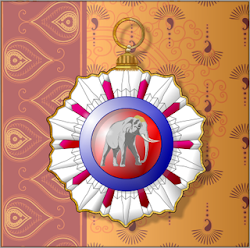 Awarded the Golcondan Order of the White Elephant
