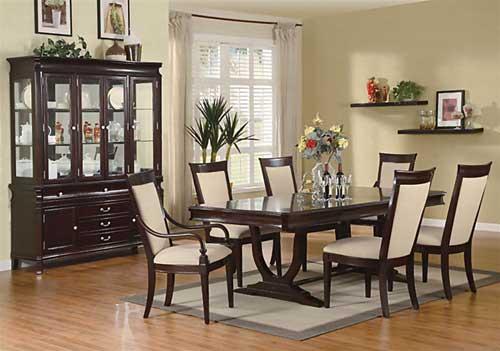 70 model meja makan minimalis kayu jati di ruang makan for Comedores redondos elegantes