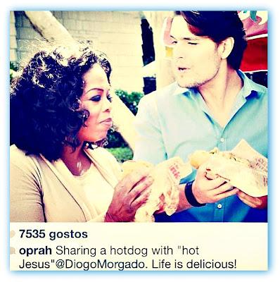 imagem de Oprah Winfrey e Diogo Morgado