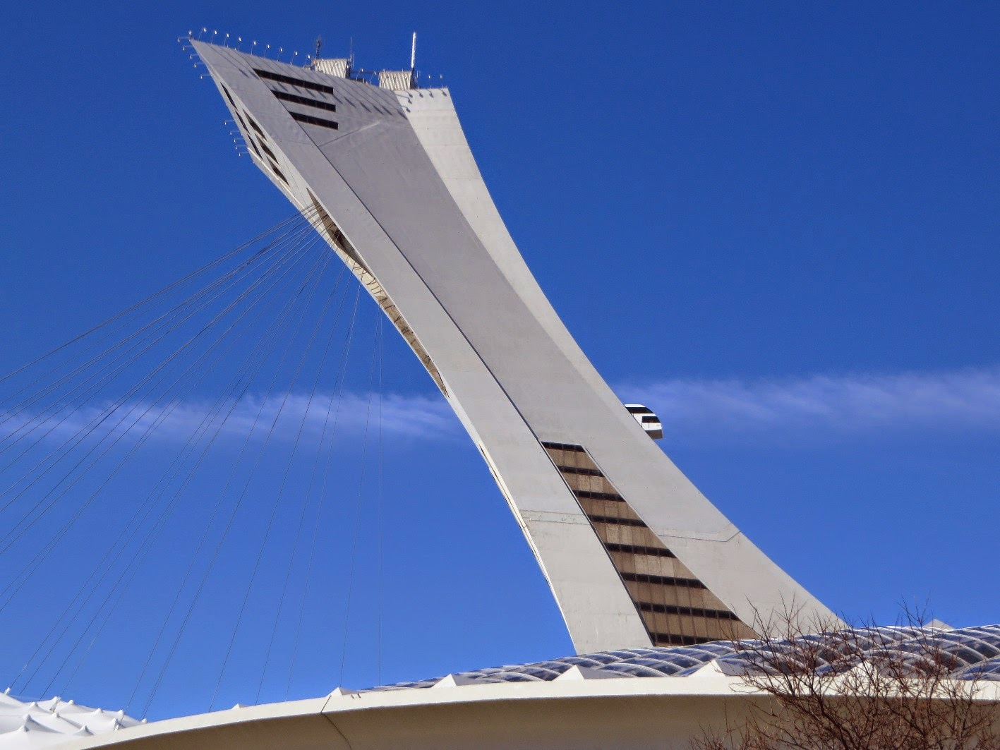 The World Of Gord The Montreal Tower At Olympic Stadium