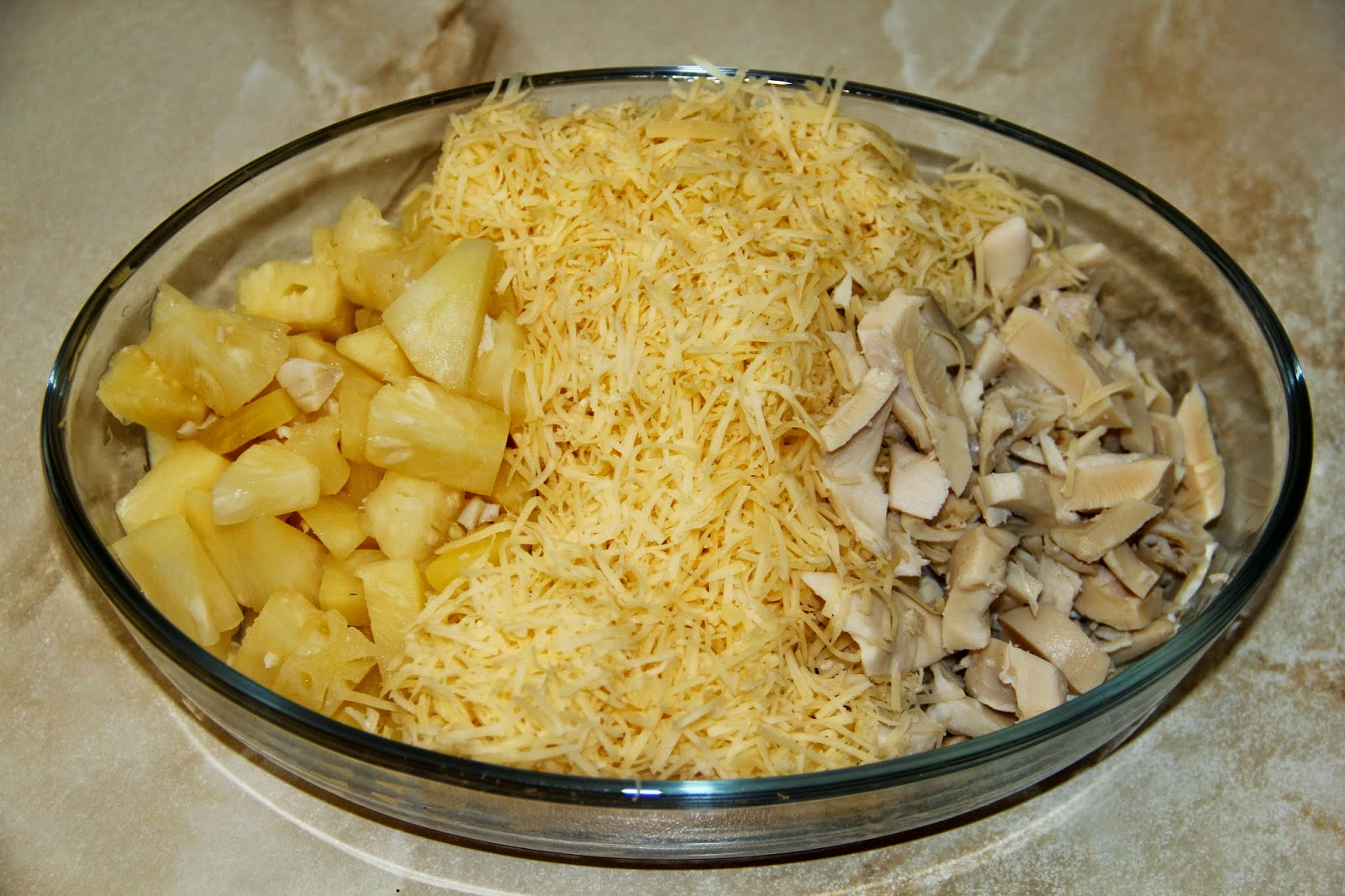 Салат курица с ананасом пошаговый рецепт и
