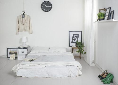 cama de casal no ch?o Ideias decora??o mobili?rio